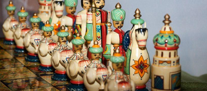 Chess Game Chess Pieces Persia Iran