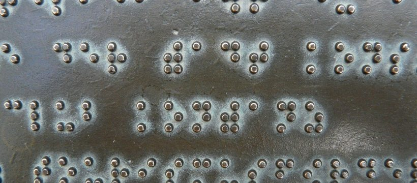 Braille Font Keys Metal Plate